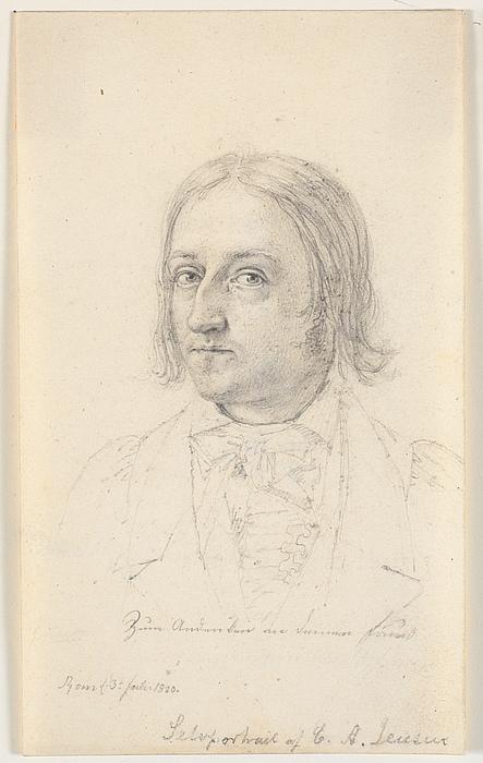 C.A. Jensen: Selvportræt, 1820