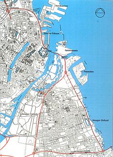Forslag til vej- og tunnelføring til aflastning af trafikken i Indre By. 1997