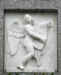 Provinsialstændernes oprettelse. Marmor. Monumentets højre side