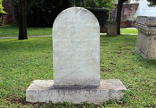 Gravmæle for J.D. Åkerblad, Cimitero Acattolico