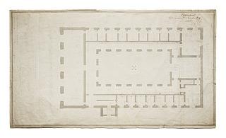 Thorvaldsens Museum, plan af stuen - Copyright tilhører Thorvaldsens Museum