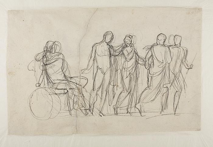 Briseis føres bort fra Achilleus