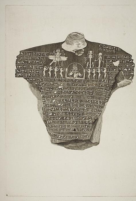Statue med hieroglyffer
