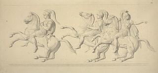 Hephæstion og hærførerne Parmenio og Amyntas