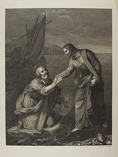 Kristus redder Peter fra at drukne i søen