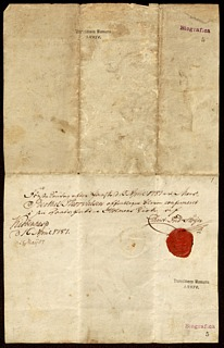 Thorvaldsens konfirmationsbevis.