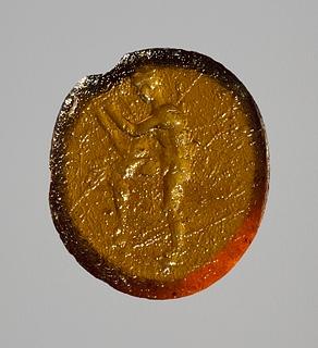 Apollon med kithara. Hellenistisk-romersk paste