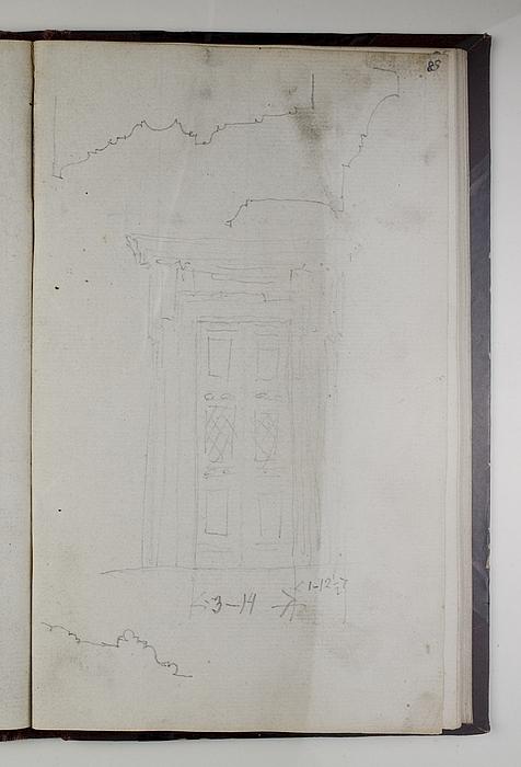 Portal til Thorvaldsens Museum og profil af gesimser