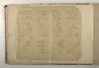 Dansende satyrfigurer