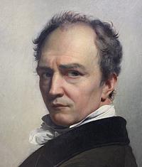 F.J. Navez: Selvportræt, 1826, udsnit