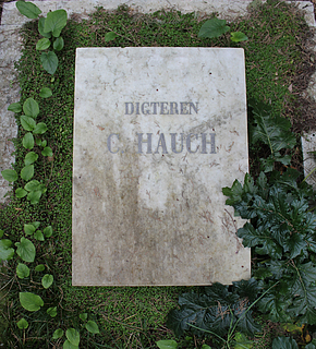 Gravmæle for Carsten Hauch, Cimitero Acattolico, Rom