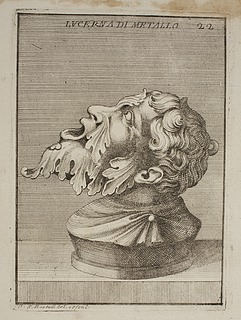 Lampe i form af et mandshoved