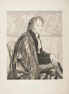 Portræt af Thorvaldsen i San Luca-Akademiets dragt