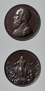 Medalje forside: Correggio. Medalje bagside: Kristus på regnbuen