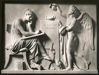 Bertel Thorvaldsen: A genio lumen. Kunsten og den lysbringende genius, 1808 - Copyright tilhører Thorvaldsens Museum