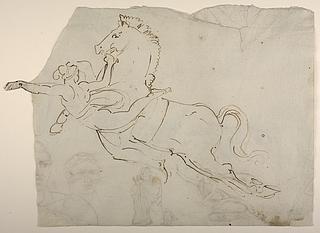 Svævende kvinde og hest