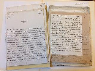 Håndskrevne originaldokumenter i Thorvaldsens Museum