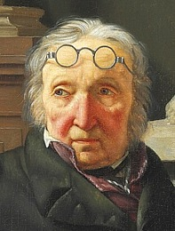 Martinus Rørbye: C.A. Lorentzen i sit atelier, udsnit