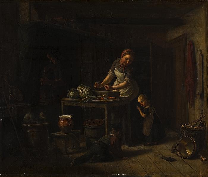 En køkkenscene
