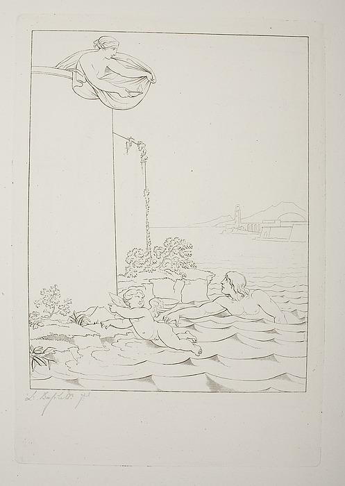 Leander svømmer til Hero over Hellespont
