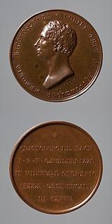 Medalje forside: Staldmester C. Bach. Medalje bagside: Inskription