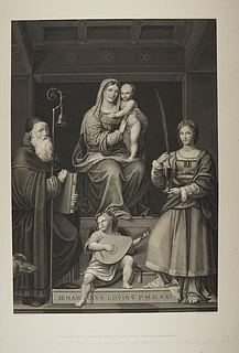 Maria med barnet mellem Sankt Antonius og Sankt Barbara