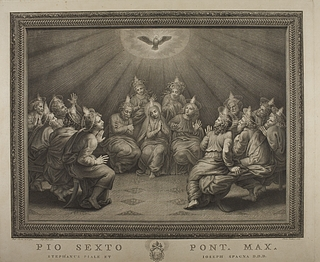 Maria og disciplene ved pinsefesten