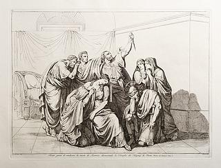 Bruto giura di vendicare di morte di Lucrezia discacciando la Famiglia di Tarquinj da Roma (Brutus sværger at hævne drabet på Lucretia og forvise Tarquini-familien fra Rom)