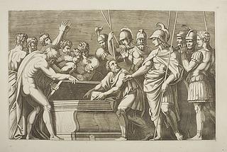 Alexander den Store sørger for at Homers Illiade bliver lagt i Darius' skrin