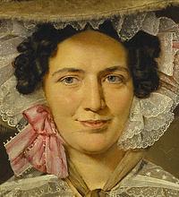 Portræt af baronesse Christine Stampe