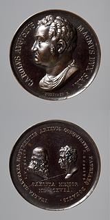 Medalje forside: Storhertug Carl August af Sachsen-Weimar. Medalje bagside: Leonardo da Vinci og Giuseppe Bossi
