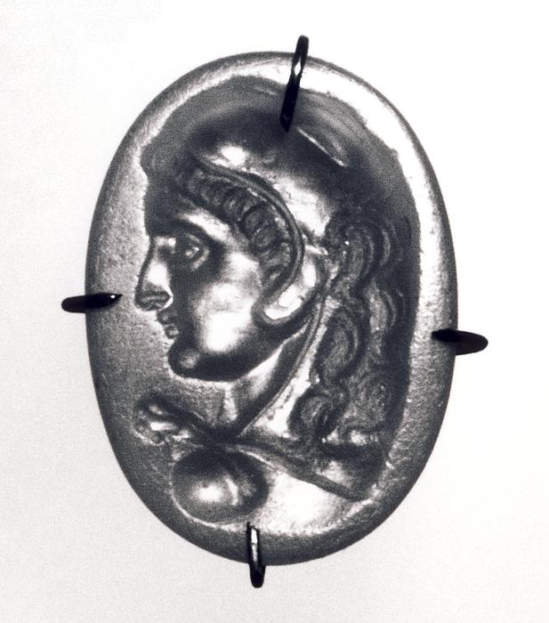 Buste af Herakles. Hellenistisk-romersk ringsten