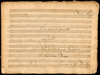 """Noder, """"Carnevalle 1799"""" og """"Minué per Chitarra Francese"""" i to hæfter"""