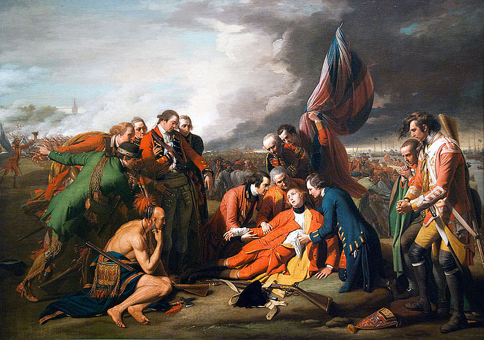 Benjamin West: The Death of General Wolfe, 1770