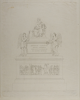 Monument over Antonio Canova, udkast