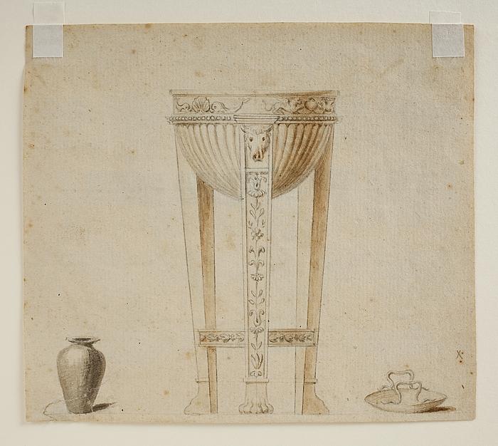 Trefod, vase og skål