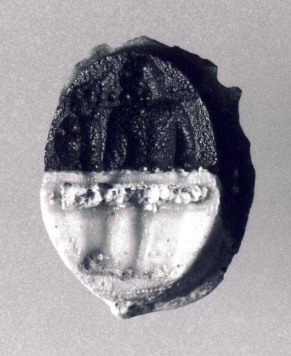 Diomedes siddende med Palladiet. Romersk republikansk paste