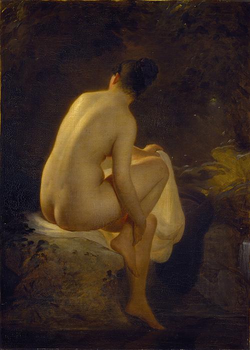 En badende pige