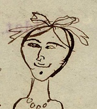 m26I,nr.77 Pauline portræt