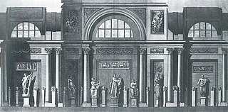 Vincenzo Feoli efter Francesco Costa Musernes galleri i Museo Pio-Clementino