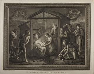 L'adorazione de pastori ( Hyrdernes tiilbedelse )