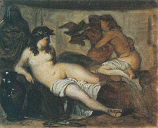 Ludvig Abelin Schou: Mytologisk scene, 1865-67