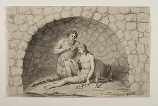 Chiron lærer Achilleus lægekunsten