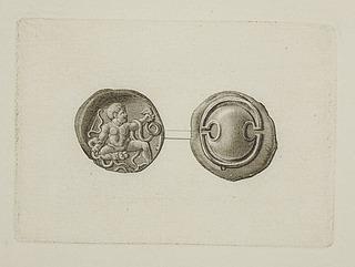 Græsk mønt for- og bagside