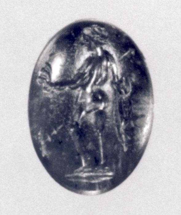 Afrodite med skibsornament og scepter. Hellenistisk-romersk ringsten