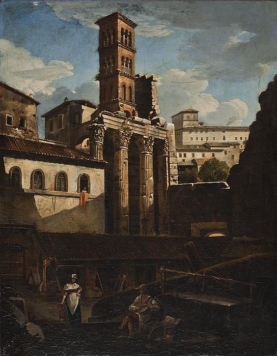 Ruinerne af Mars Ultors tempel i Rom