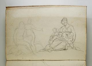 Herkules og Omfale(?). Kvinde med tre børn
