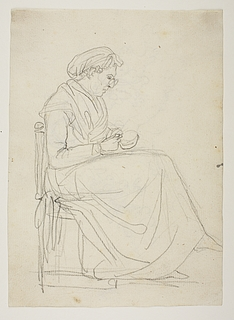 Siddende ældre kvinde, Orsola Polverini Narlinghi
