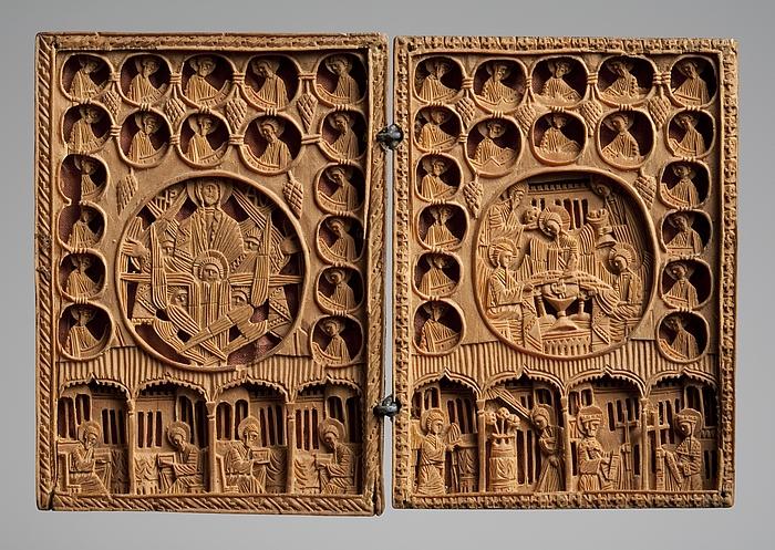Diptych med nygræske religiøse motiver