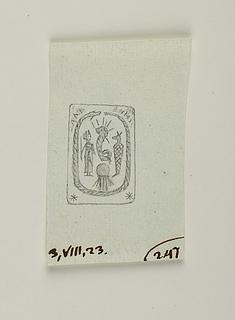 Uræus, Kanope krukke, Anubisfigur, slange der bider sig selv i halen